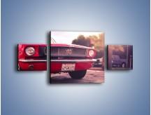 Obraz na płótnie – Czerwony Ford Mustang – trzyczęściowy TM087W4