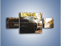 Obraz na płótnie – Chevrolet Camaro w matowym kolorze – trzyczęściowy TM132W4