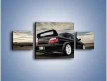Obraz na płótnie – Czarne Subaru Impreza WRX Sti – trzyczęściowy TM133W4