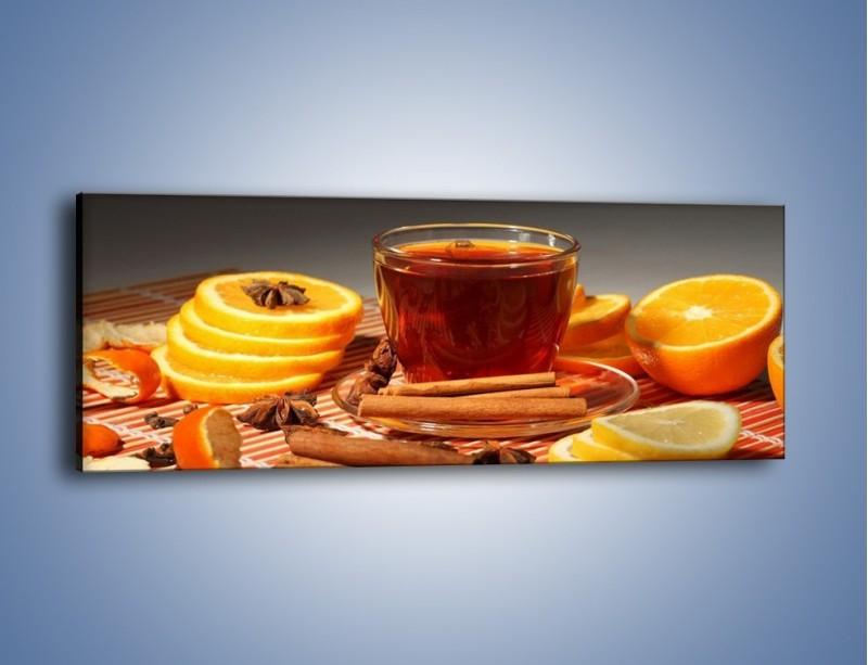 Obraz na płótnie – Imbirowo-pomarańczowe rozluźnienie – jednoczęściowy panoramiczny JN260