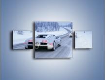 Obraz na płótnie – Bugatti Veyron w śniegu – trzyczęściowy TM134W4