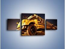 Obraz na płótnie – Amerykański School Bus – trzyczęściowy TM146W4