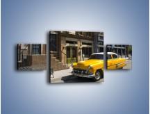 Obraz na płótnie – Amerykańska taksówka z lat 58 – trzyczęściowy TM164W4