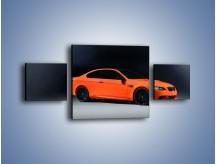 Obraz na płótnie – BMW M3 E92 Coupe Orange – trzyczęściowy TM168W4