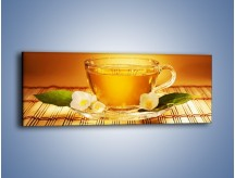Obraz na płótnie – Delikatny smak herbaty – jednoczęściowy panoramiczny JN261