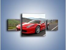Obraz na płótnie – Czerwone Ferrari 458 Italia – trzyczęściowy TM194W4