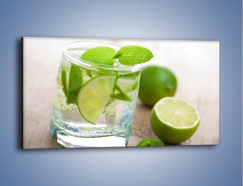 Obraz na płótnie – Limonkowy napój – jednoczęściowy panoramiczny JN262