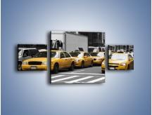 Obraz na płótnie – Amerykańskie taksówki w korku ulicznym – trzyczęściowy TM219W4