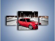 Obraz na płótnie – BMW 5 E34 na moście – trzyczęściowy TM227W4