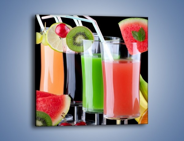 Obraz na płótnie – Shake z soczystych owoców – jednoczęściowy kwadratowy JN014
