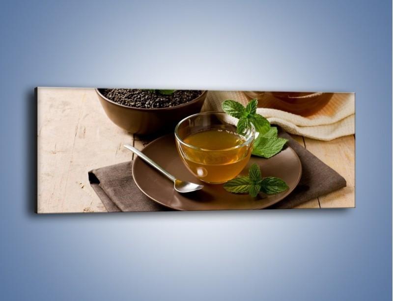 Obraz na płótnie – Filiżanka herbaty na poprawę humoru – jednoczęściowy panoramiczny JN264