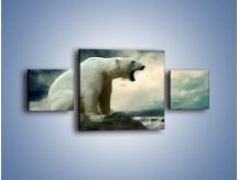 Obraz na płótnie – Donośny krzyk polarnego niedźwiedzia – trzyczęściowy Z114W4