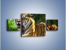 Obraz na płótnie – Cała duma tygrysa – trzyczęściowy Z199W4