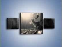 Obraz na płótnie – Jeleń w sepii – trzyczęściowy Z250W4