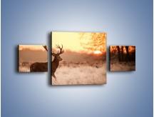 Obraz na płótnie – Jeleń szukający sarny – trzyczęściowy Z306W4