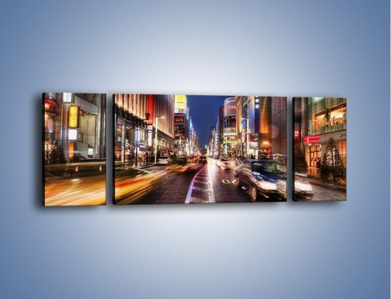 Obraz na płótnie – Tokyo w ruchu – trzyczęściowy AM015W5