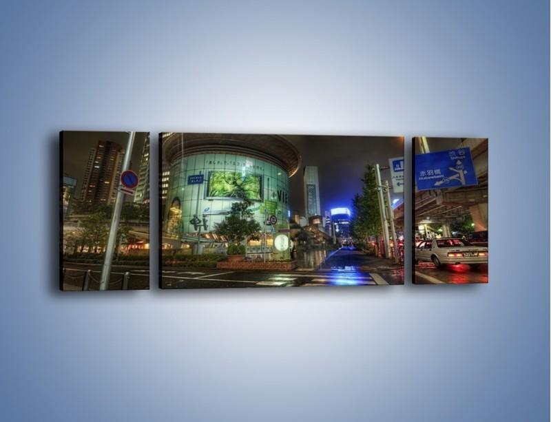 Obraz na płótnie – Spokojne Tokyo nocą – trzyczęściowy AM056W5