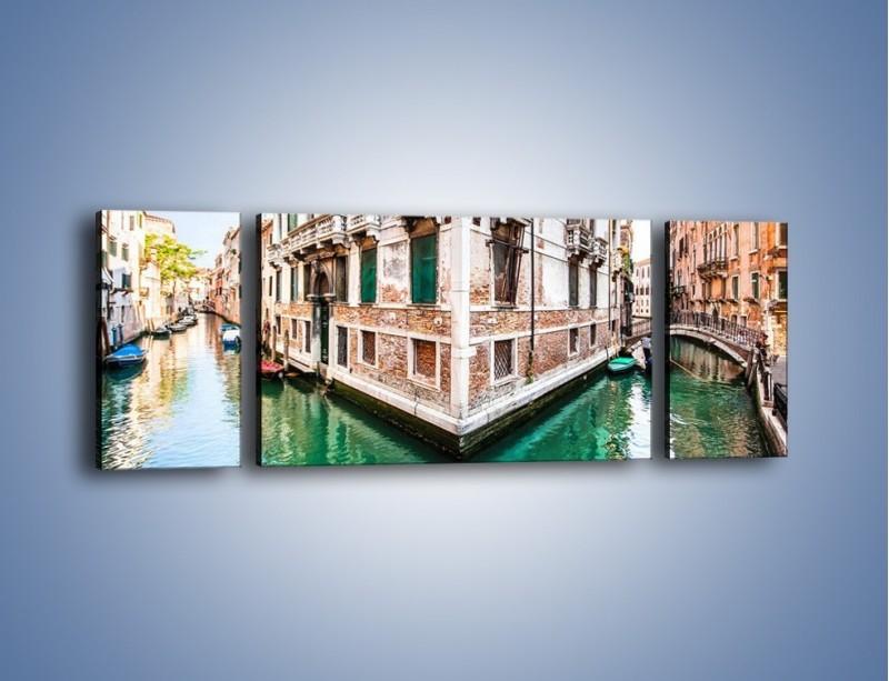 Obraz na płótnie – Skrzyżowanie wodne w Wenecji – trzyczęściowy AM081W5