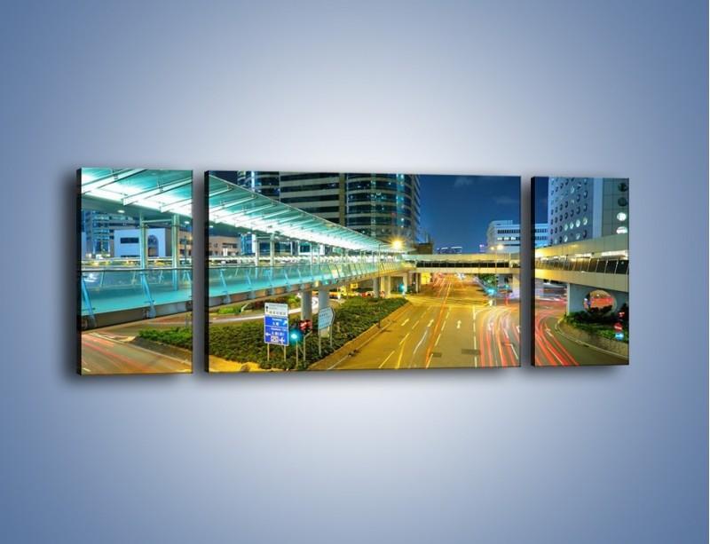 Obraz na płótnie – Droga na lotnisko w Japonii – trzyczęściowy AM088W5