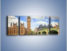 Obraz na płótnie – Big Ben w pochmurny dzień – trzyczęściowy AM095W5