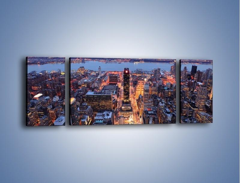 Obraz na płótnie – Budzące się ze snu miasto – trzyczęściowy AM097W5