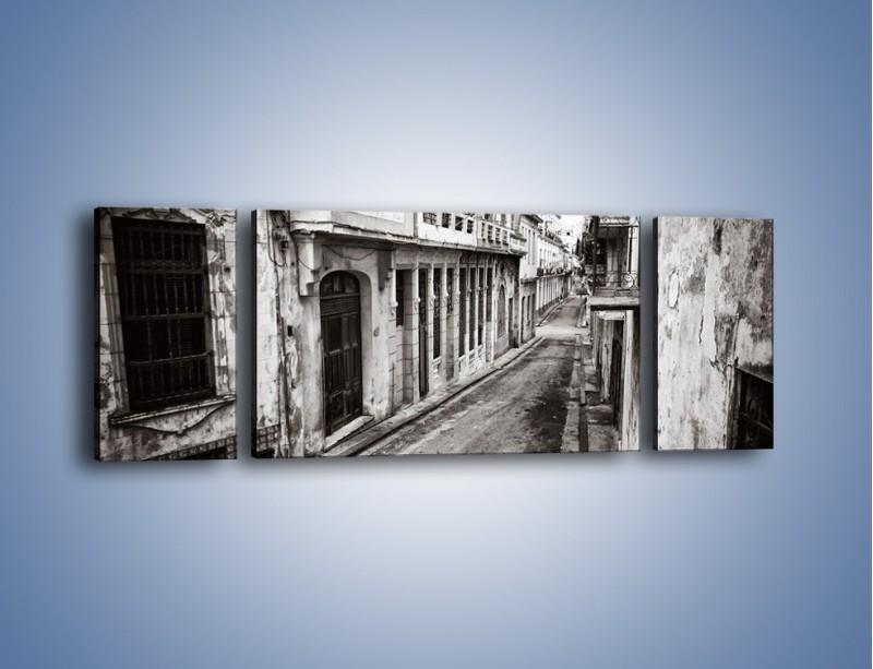 Obraz na płótnie – Urokliwa uliczka w starej części miasta – trzyczęściowy AM124W5