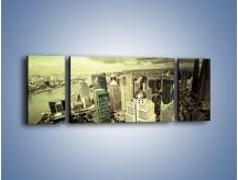 Obraz na płótnie – Ciemne chmury nad miastem – trzyczęściowy AM130W5