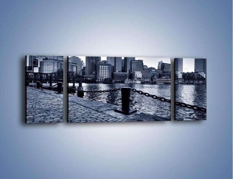 Obraz na płótnie – Wybrukowana wybrzeże miasta – trzyczęściowy AM132W5