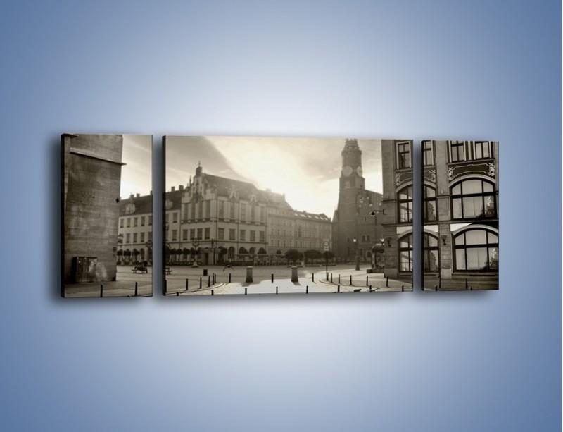 Obraz na płótnie – Rynek Starego Miasta – trzyczęściowy AM136W5