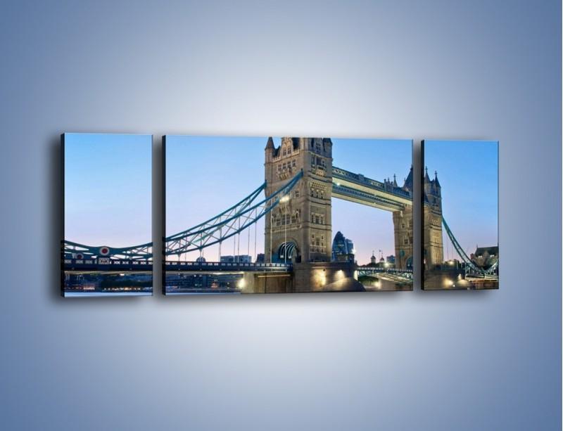 Obraz na płótnie – Tower Bridge o poranku – trzyczęściowy AM143W5