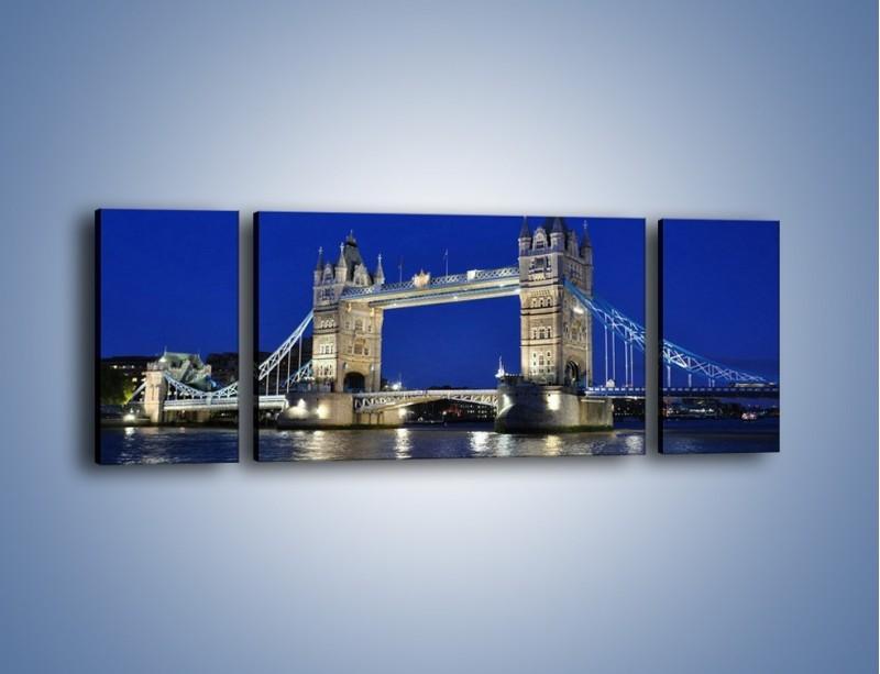 Obraz na płótnie – Tower Bridge nocą – trzyczęściowy AM145W5