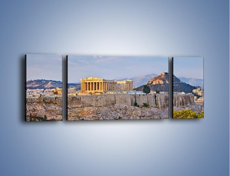 Obraz na płótnie – Ateńskie ruiny – trzyczęściowy AM162W5