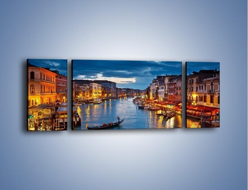 Obraz na płótnie – Wenecja romantyczną porą – trzyczęściowy AM163W5