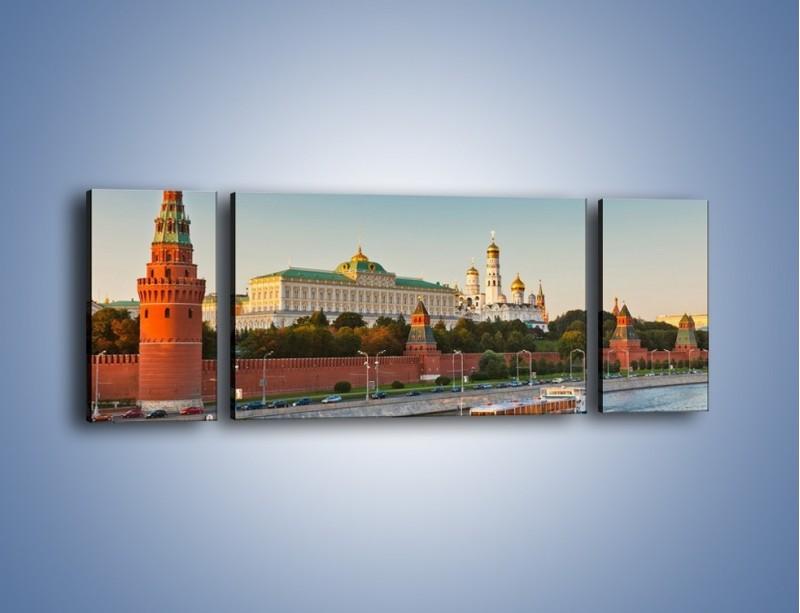 Obraz na płótnie – Kreml w środku lata – trzyczęściowy AM164W5