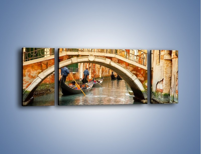 Obraz na płótnie – Weneckie gondole – trzyczęściowy AM172W5