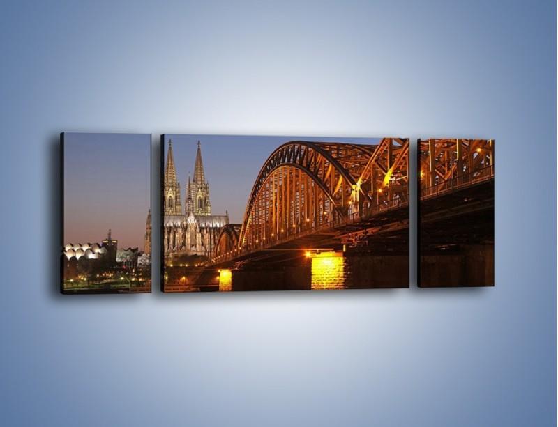 Obraz na płótnie – Most na tle kościoła – trzyczęściowy AM186W5