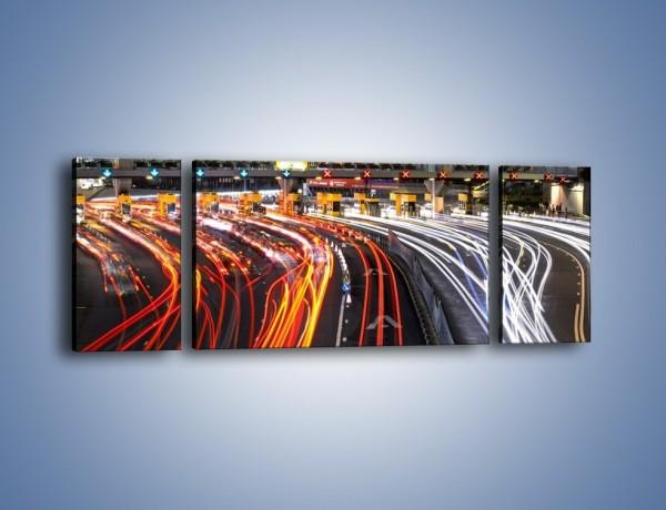 Obraz na płótnie – Autostradowa bramka w ruchu świateł – trzyczęściowy AM236W5