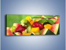 Obraz na płótnie – Arbuzowa misa z owocami – jednoczęściowy panoramiczny JN274