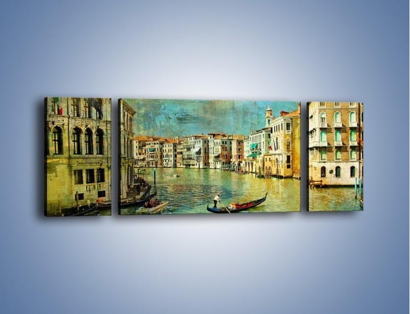 Obraz na płótnie – Weneckie lato w stylu vintage – trzyczęściowy AM245W5