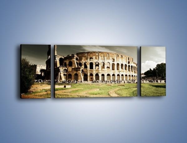 Obraz na płótnie – Koloseum przed burzą – trzyczęściowy AM271W5