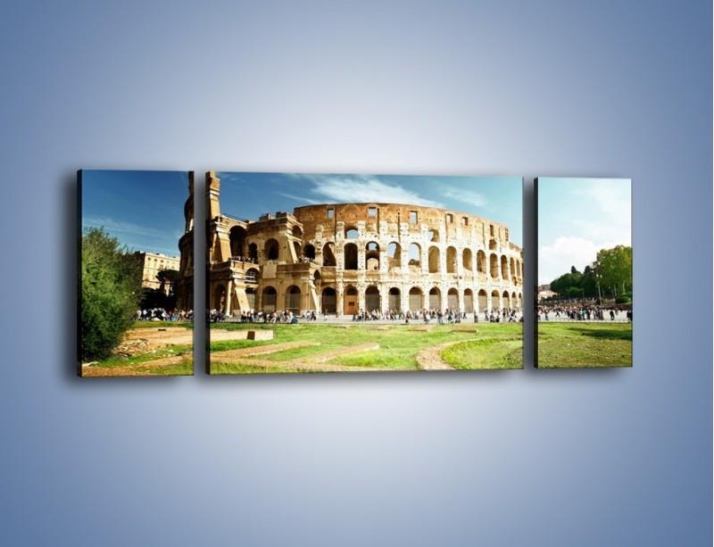 Obraz na płótnie – Koloseum w piękny dzień – trzyczęściowy AM273W5