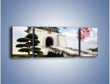 Obraz na płótnie – Azjatycka architektura – trzyczęściowy AM299W5