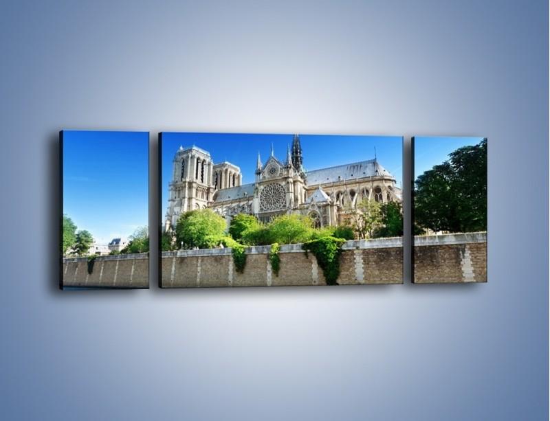 Obraz na płótnie – Katedra Notre-Dame – trzyczęściowy AM305W5
