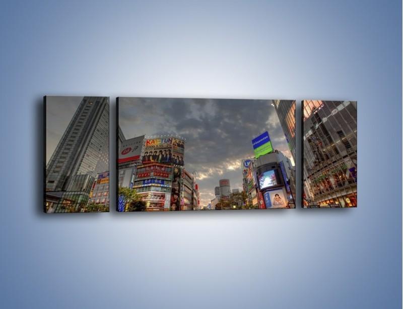 Obraz na płótnie – Uliczny tłok w Tokyo – trzyczęściowy AM312W5