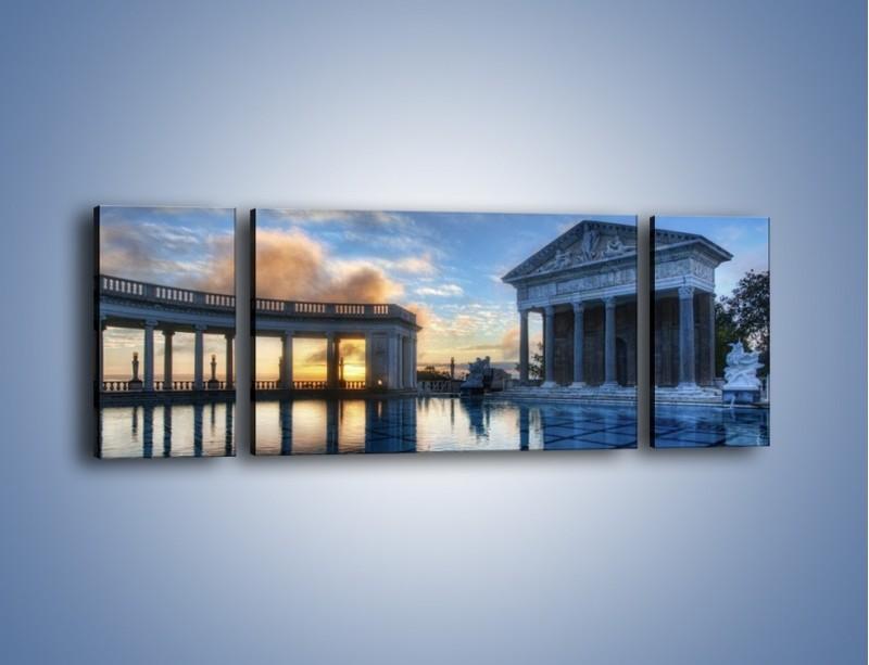 Obraz na płótnie – Neptune pool w Kalifornii – trzyczęściowy AM320W5