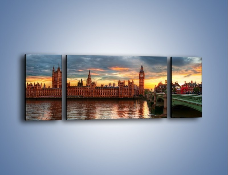 Obraz na płótnie – Pałac Westmnisterski i Big Ben – trzyczęściowy AM321W5