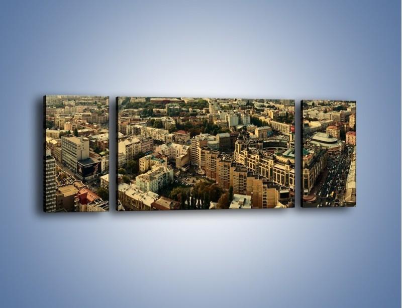 Obraz na płótnie – Panorama Kijowa – trzyczęściowy AM326W5
