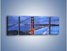 Obraz na płótnie – Most Golden Gate – trzyczęściowy AM328W5