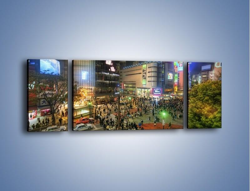 Obraz na płótnie – Zatłoczone ulice Toyko nocą – trzyczęściowy AM333W5