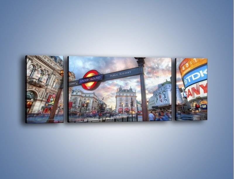 Obraz na płótnie – Wejście do londyńskiego metro – trzyczęściowy AM334W5